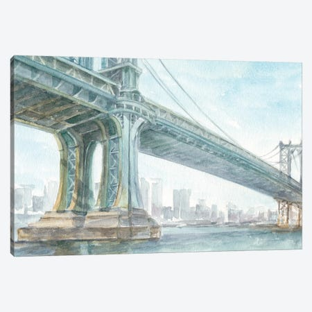 Iconic Watercolor Bridge IV Canvas Print #EHA597} by Ethan Harper Canvas Art Print