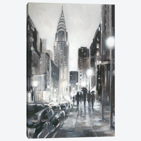 Illuminated Streets II Canvas Print #EHA599} by Ethan Harper Canvas Artwork