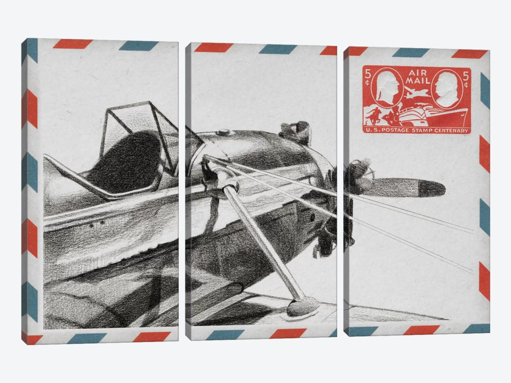 Aeronautic Collection I by Ethan Harper 3-piece Canvas Wall Art