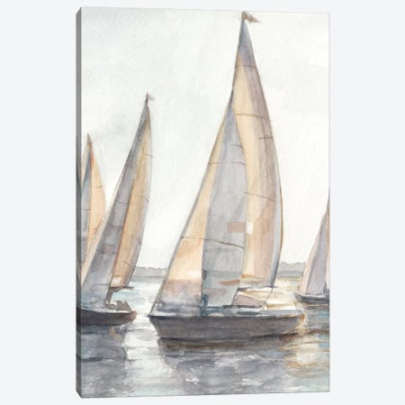Plein Air Sailboats I Canvas Print #EHA600} by Ethan Harper Canvas Artwork