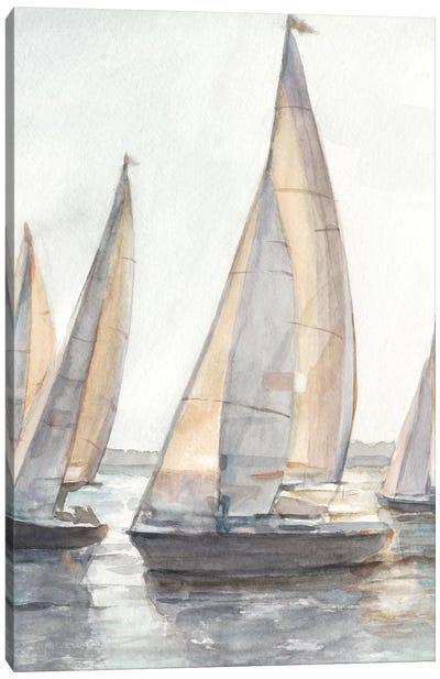 Plein Air Sailboats I Canvas Art Print