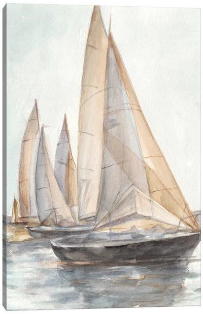 Plein Air Sailboats II Canvas Art Print