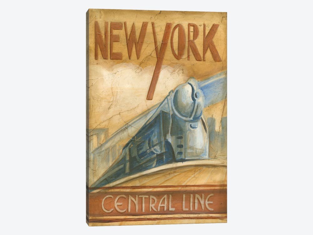 New York Central Line by Ethan Harper 1-piece Canvas Art Print