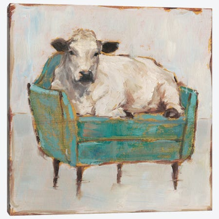 Moo-ving In I Canvas Print #EHA632} by Ethan Harper Art Print