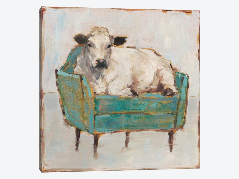 Moo-ving In I by Ethan Harper 1-piece Canvas Art