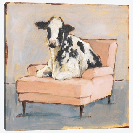 Moo-ving In II Canvas Print #EHA633} by Ethan Harper Canvas Print