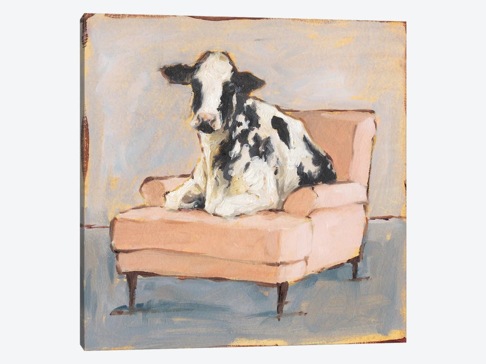 Moo-ving In II by Ethan Harper 1-piece Canvas Art Print