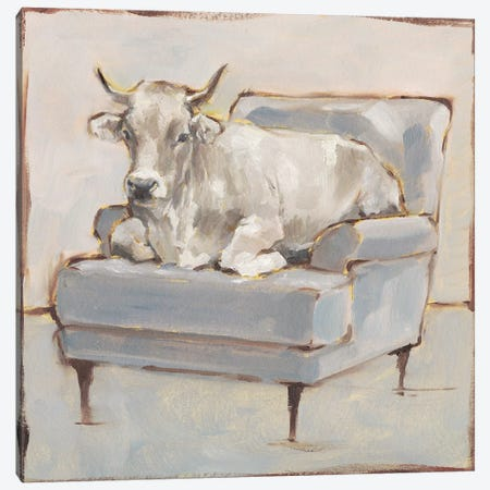 Moo-ving In III Canvas Print #EHA634} by Ethan Harper Canvas Artwork
