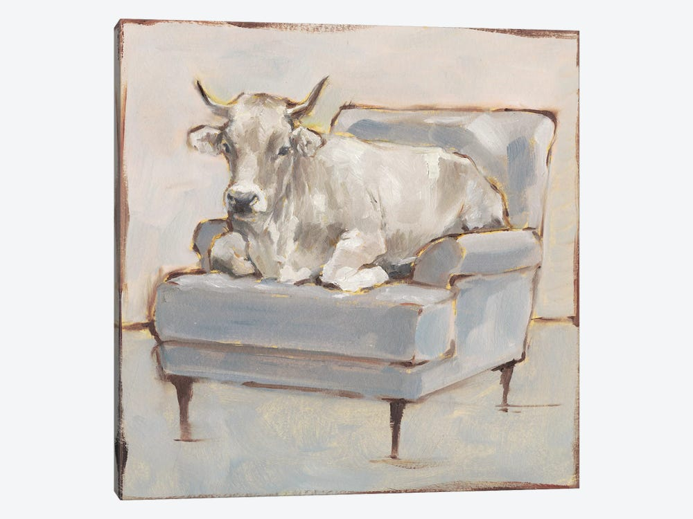 Moo-ving In III by Ethan Harper 1-piece Canvas Artwork
