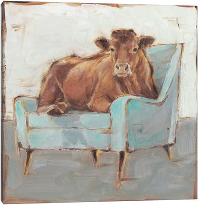 Moo-ving In IV Canvas Art Print