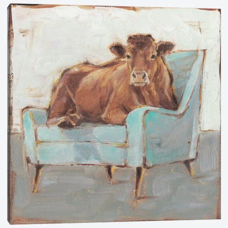 Moo-ving In IV Canvas Print #EHA635} by Ethan Harper Canvas Art