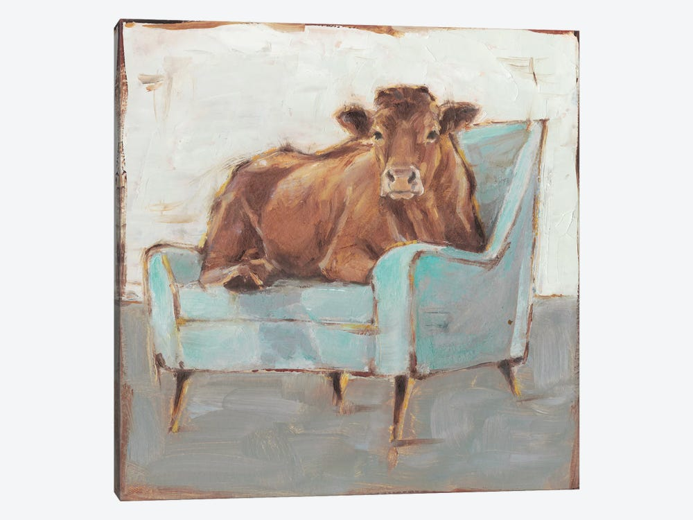 Moo-ving In IV by Ethan Harper 1-piece Art Print