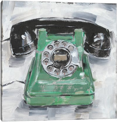 Retro Phone III Canvas Art Print