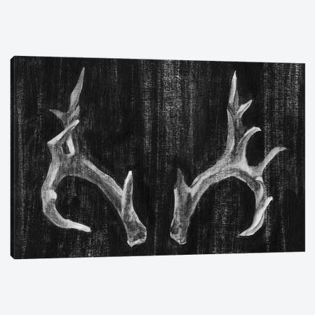 Rustic Antlers I Canvas Print #EHA67} by Ethan Harper Canvas Artwork