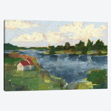 Lakeside Cottages I Canvas Print #EHA680} by Ethan Harper Canvas Art