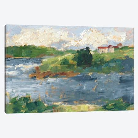 Lakeside Cottages IV Canvas Print #EHA681} by Ethan Harper Canvas Artwork