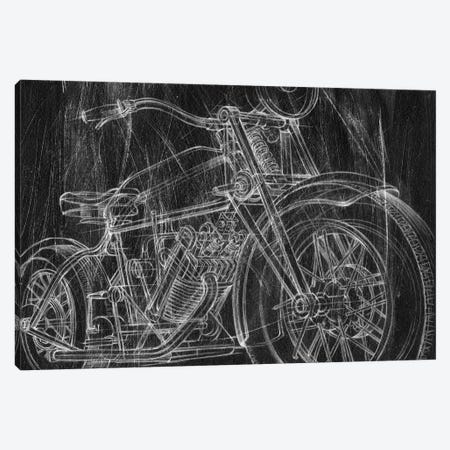 Motorcycle Mechanical Sketch I 3-Piece Canvas #EHA686} by Ethan Harper Canvas Art Print