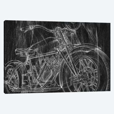 Motorcycle Mechanical Sketch I Canvas Print #EHA686} by Ethan Harper Canvas Art Print