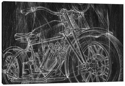 Motorcycle Mechanical Sketch I Canvas Art Print