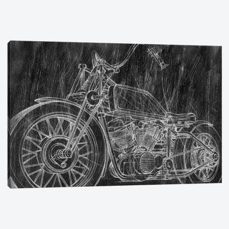 Motorcycle Mechanical Sketch II 3-Piece Canvas #EHA687} by Ethan Harper Canvas Print