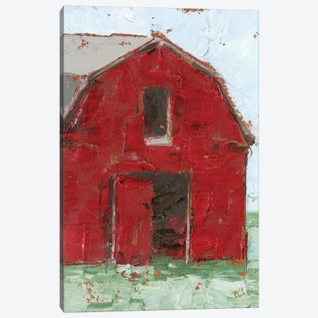 Big Red Barn I Canvas Print #EHA693} by Ethan Harper Art Print