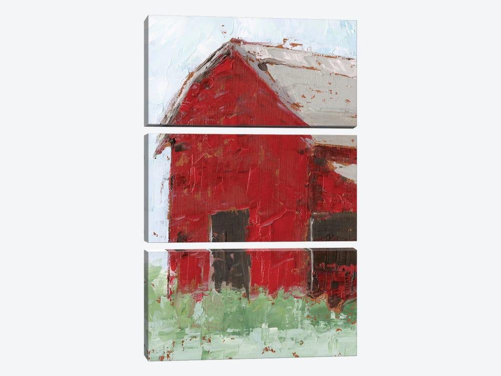 Big Red Barn II by Ethan Harper 3-piece Canvas Wall Art