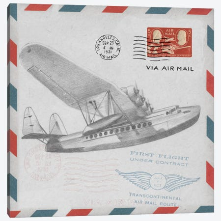 Aeronautic Collection II Canvas Print #EHA6} by Ethan Harper Art Print