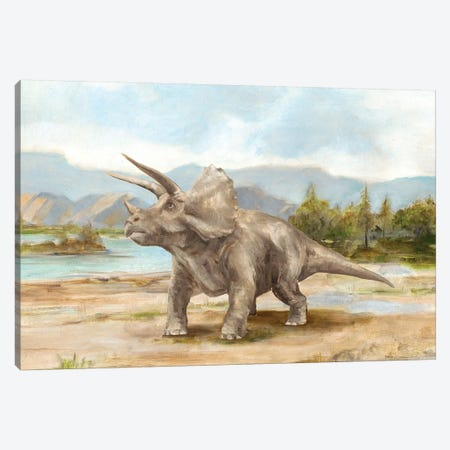 Dinosaur Illustration II Canvas Print #EHA704} by Ethan Harper Canvas Artwork