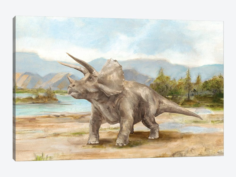 Dinosaur Illustration II by Ethan Harper 1-piece Canvas Wall Art