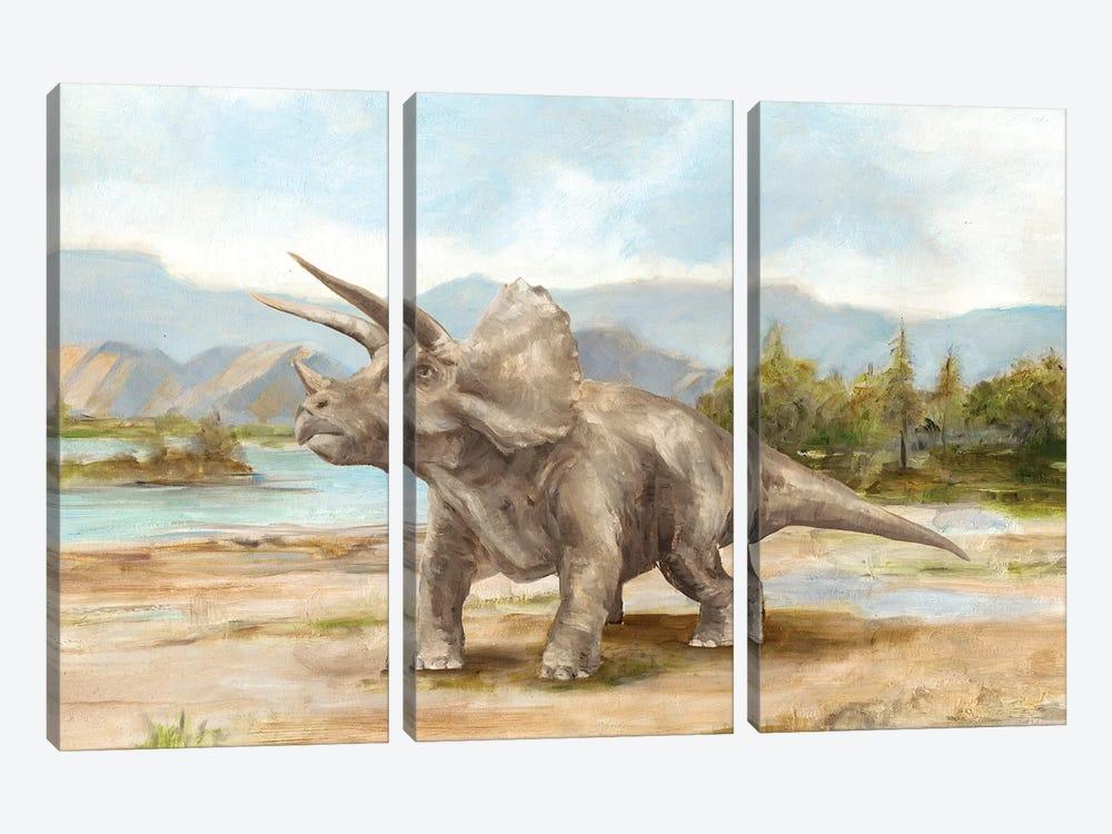 Dinosaur Illustration II by Ethan Harper 3-piece Canvas Wall Art