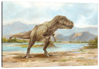 Dinosaur Illustration III Canvas Art Print