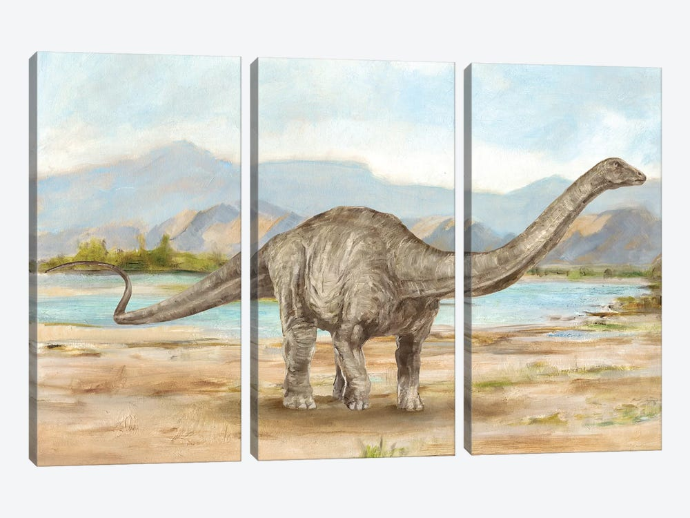 Dinosaur Illustration V by Ethan Harper 3-piece Canvas Print