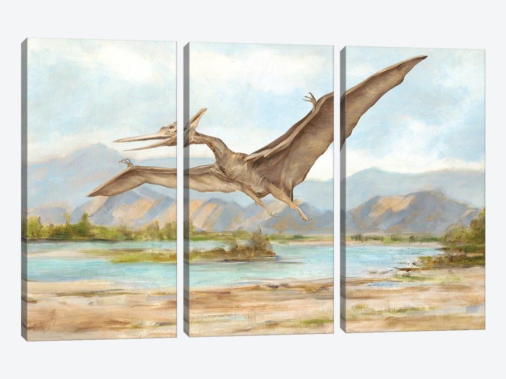 Dinosaur Illustration VI by Ethan Harper 3-piece Canvas Artwork