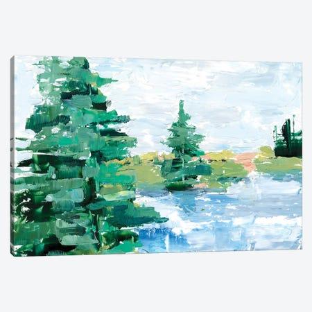 Evergreen Lake I Canvas Print #EHA711} by Ethan Harper Canvas Wall Art
