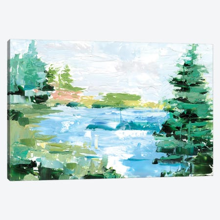Evergreen Lake II Canvas Print #EHA712} by Ethan Harper Canvas Wall Art
