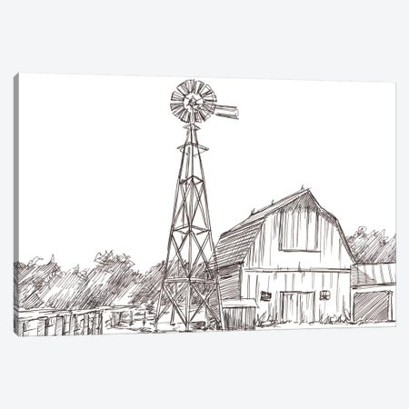 Farm Sketch II Canvas Print #EHA714} by Ethan Harper Canvas Art Print