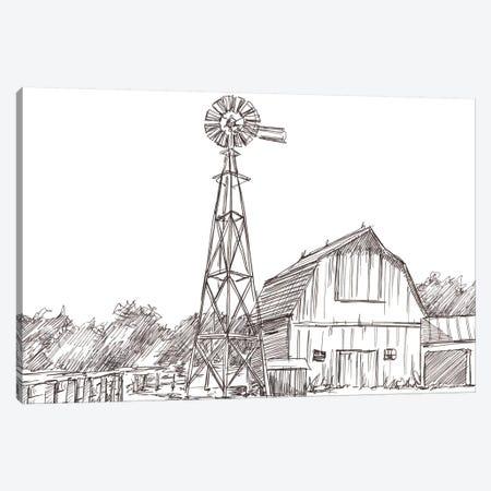Farm Sketch II Canvas Print #EHA714} by Ethan Harper Canvas Art Print