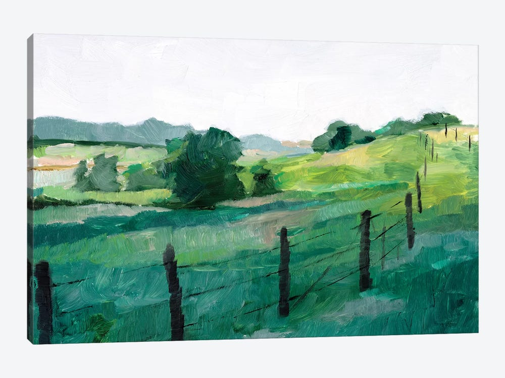 Fence Line I 1-piece Canvas Artwork