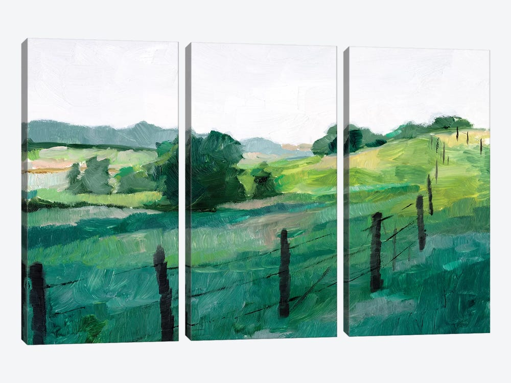 Fence Line I by Ethan Harper 3-piece Canvas Artwork