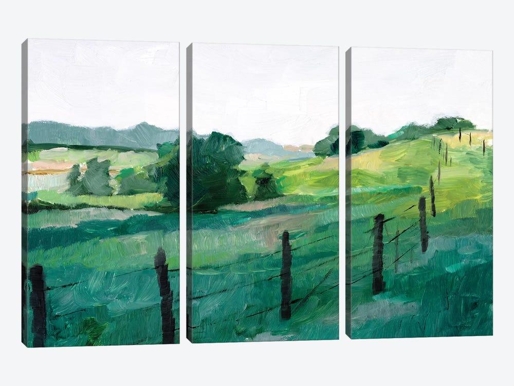 Fence Line I by Ethan Harper 3-piece Canvas Artwork