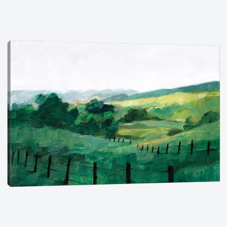 Fence Line II 3-Piece Canvas #EHA716} by Ethan Harper Canvas Print