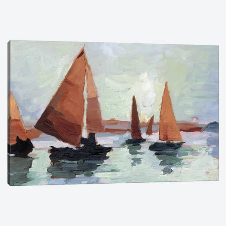 Sunset Harbor I Canvas Print #EHA741} by Ethan Harper Canvas Print