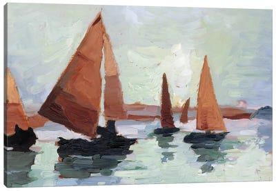 Sunset Harbor I Canvas Art Print