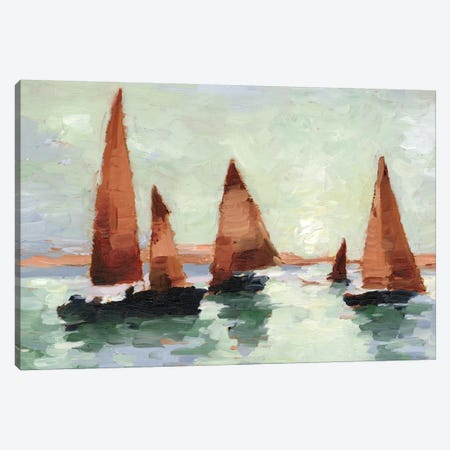 Sunset Harbor II Canvas Print #EHA742} by Ethan Harper Canvas Art Print