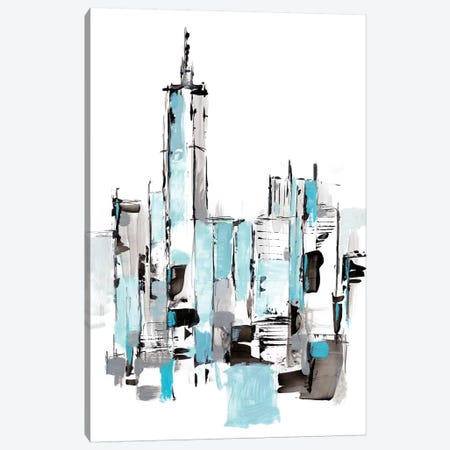 Blue City II Canvas Print #EHA778} by Ethan Harper Canvas Art