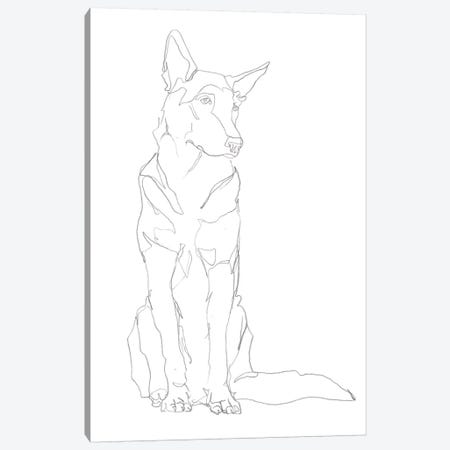 Dog Contour I Canvas Print #EHA789} by Ethan Harper Canvas Print