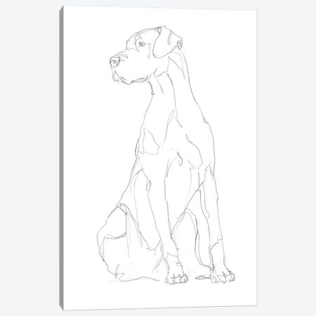 Dog Contour II Canvas Print #EHA790} by Ethan Harper Canvas Art