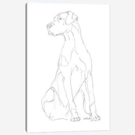 Dog Contour II Canvas Print #EHA790} by Ethan Harper Canvas Art