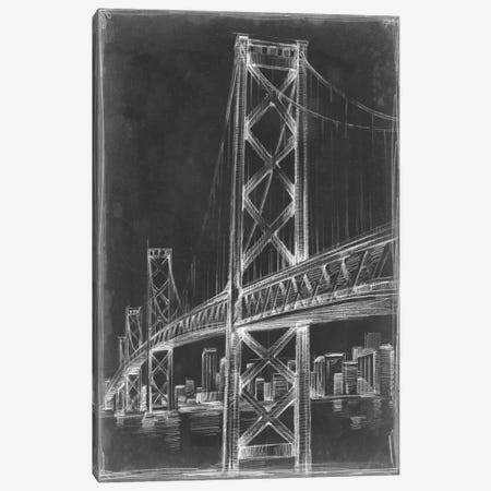 Suspension Bridge Blueprint II Canvas Print #EHA80} by Ethan Harper Canvas Print