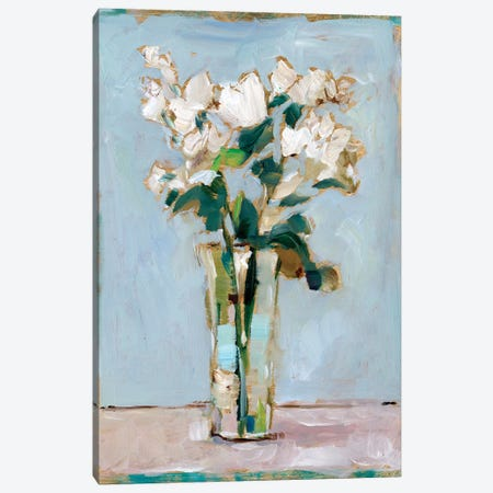 White Floral Arrangement I Canvas Print #EHA815} by Ethan Harper Canvas Art